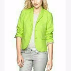 Gap lime green blazer